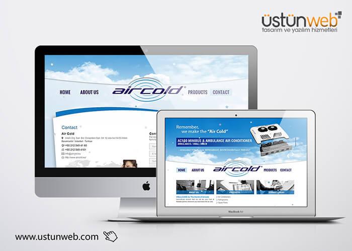 Aircold Kurumsal Site Tasarımı