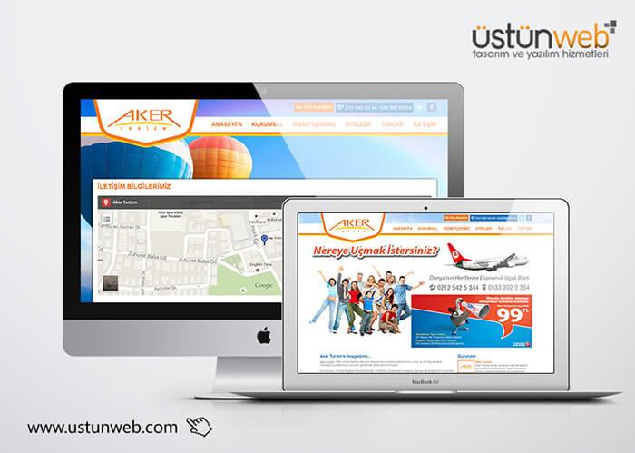 Aker Turizm Web Tasarımı