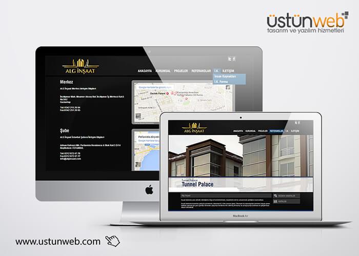 Alg İnşaat Web Tasarımı