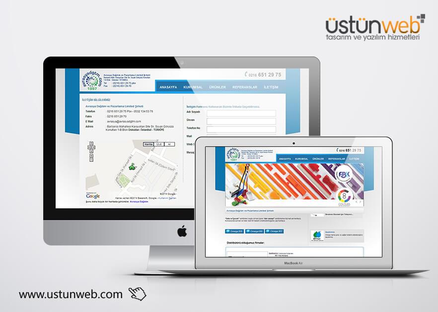 Avrasya Dağıtım Web Tasarımı