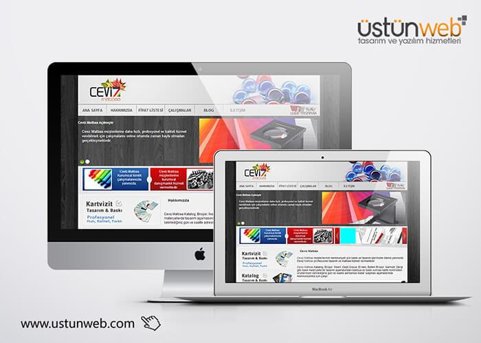 Ceviz Matbaa Web Tasarımı