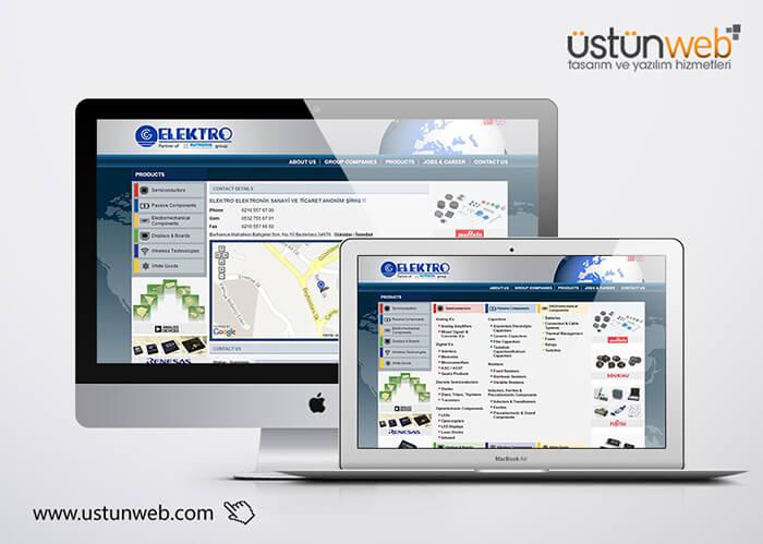 Elektro Elektronik Web Tasarımı
