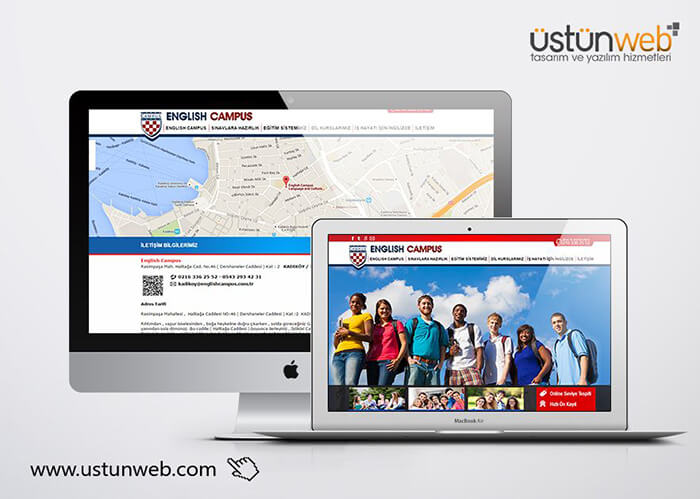 English Campus Web Tasarımı
