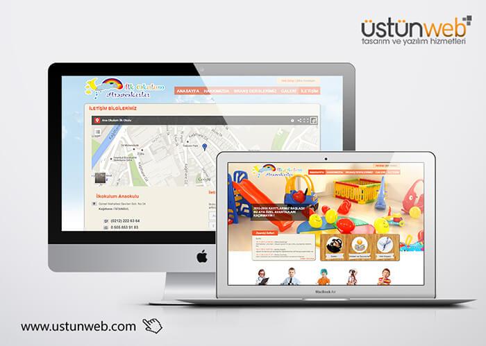 İlkokulum Anaokulu Web Tasarımı