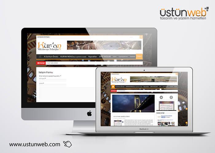 Kuran Yolcularına Selamlar Web Tasarımı