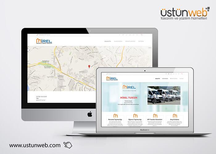 Mirel Turizm Web Tasarımı