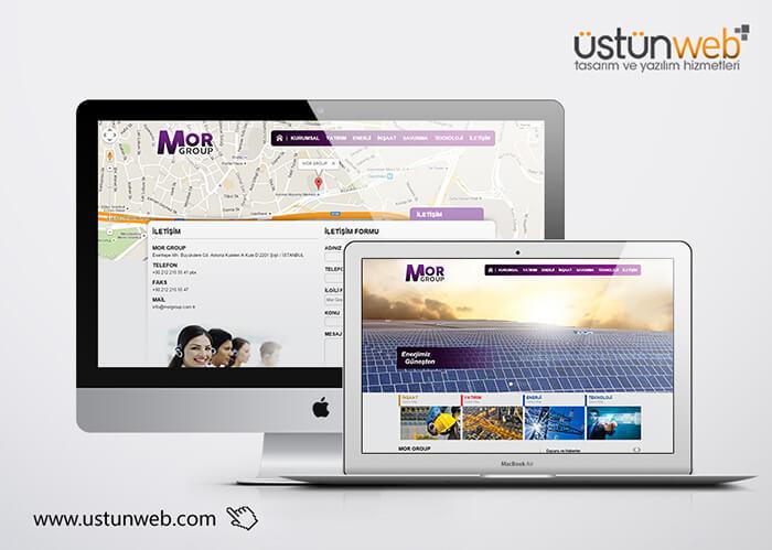 Mor Group Web Tasarımı