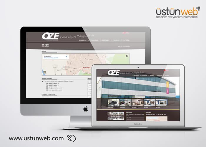 Oze Mobilya Web Tasarımı