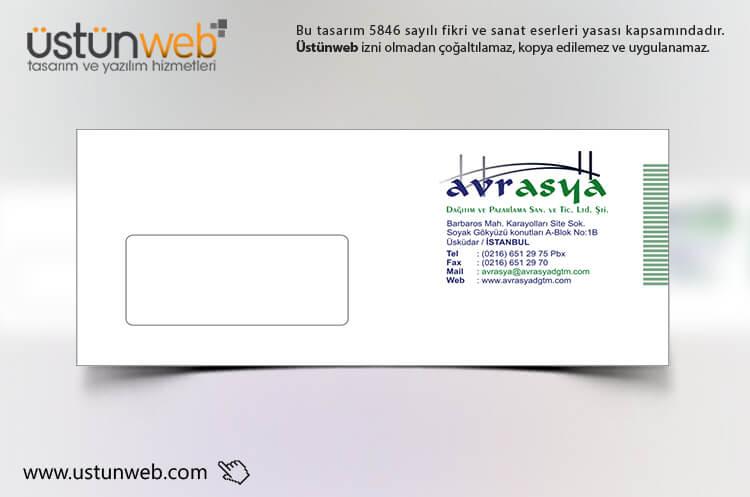 Avrasya Dağıtım Zarf Tasarımı