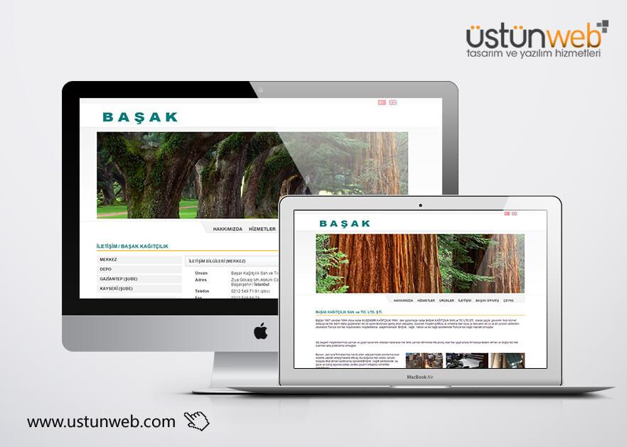 Başak Paper Web Tasarımı