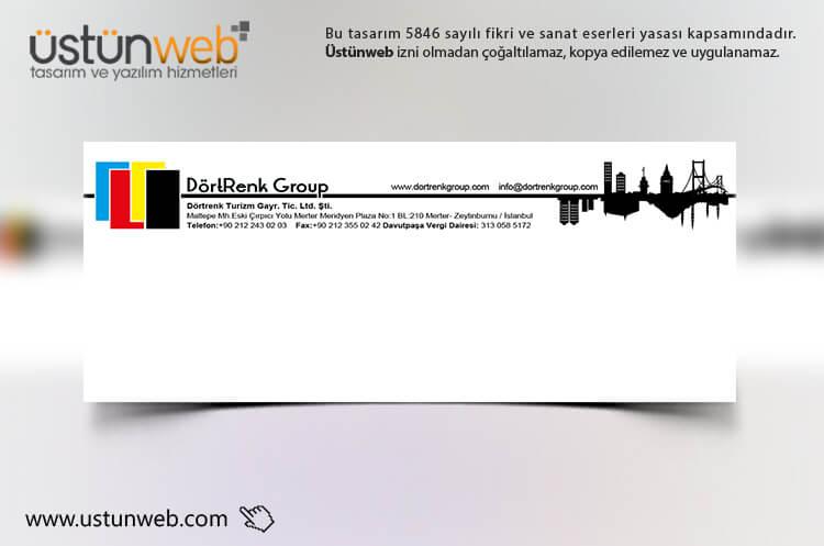 Dört Renk Group Zarf Tasarımı