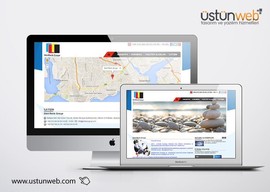 Dört Renk Group Web Tasarımı