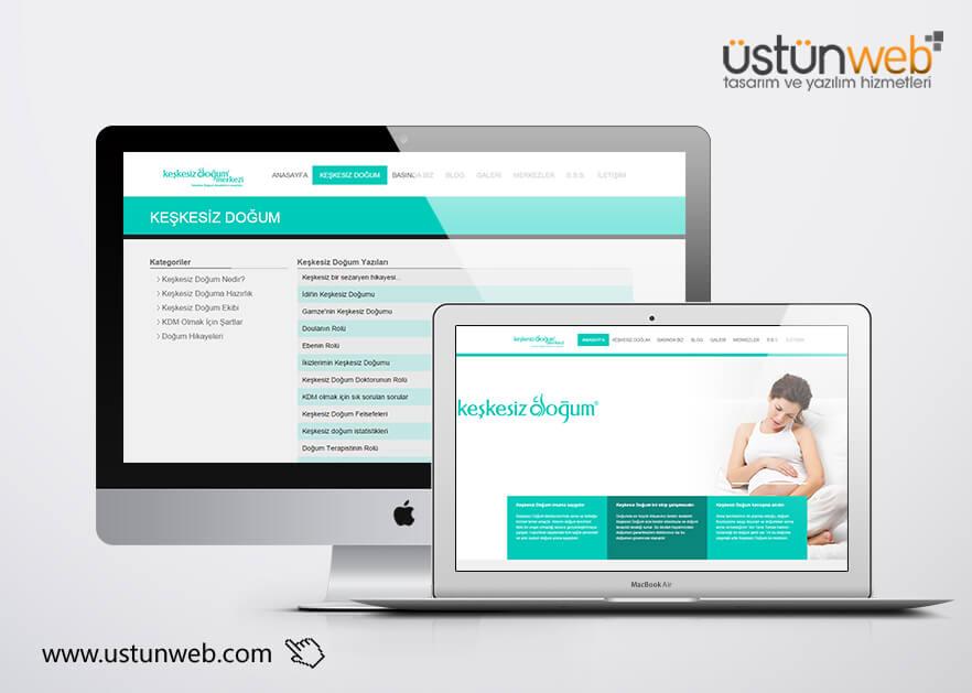 Keşkesiz Doğum Merkezi Web Tasarımı