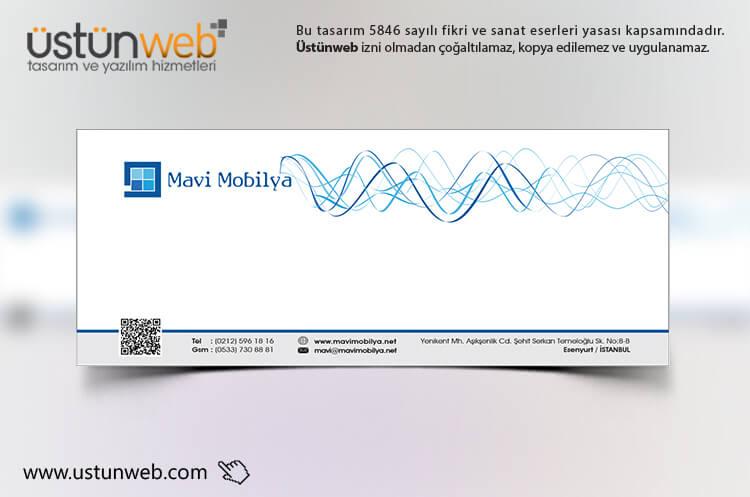 Mavi Mobilya Zarf Tasarımı