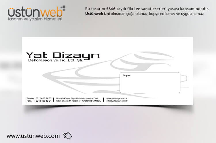 Yat Dizayn Zarf Tasarımı 2
