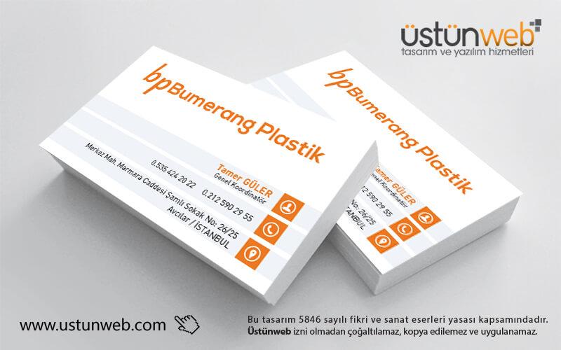 Bumerang Plastik Kartvizit Tasarımı