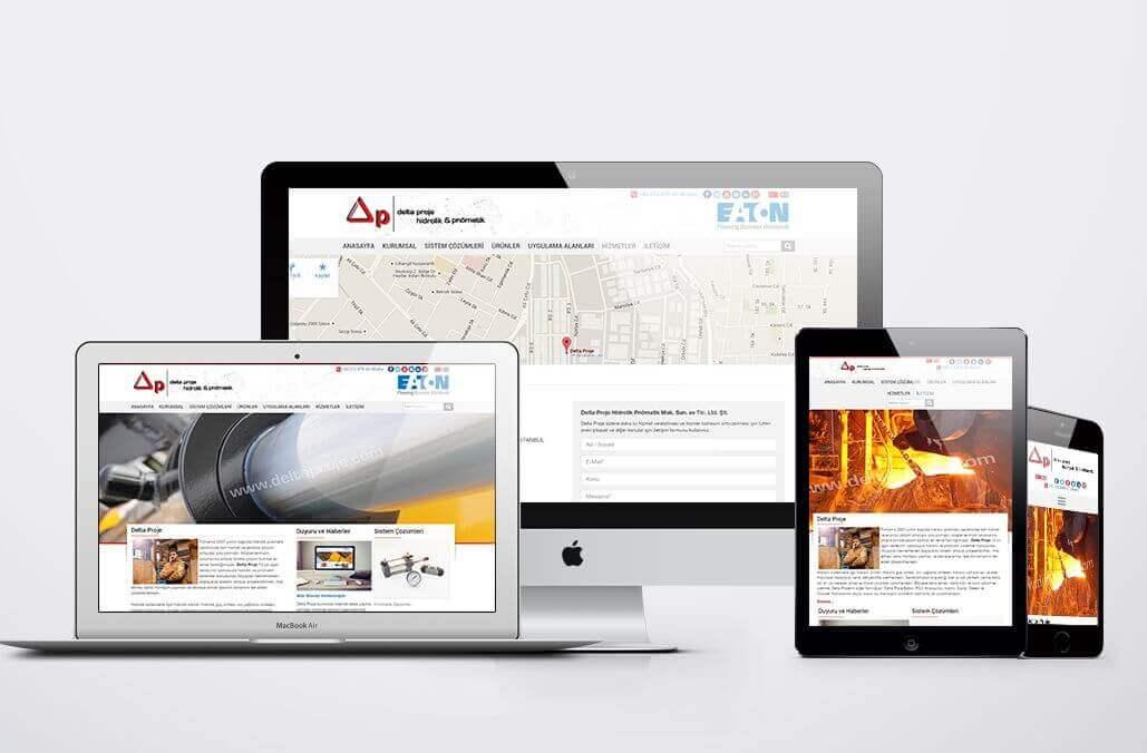 Delta Proje Kurumsal Web Tasarımı