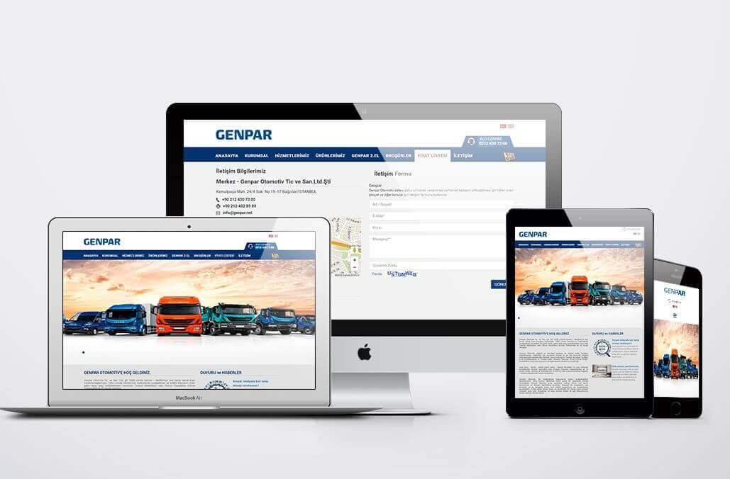 GENPAR Otomotiv Web Tasarımı