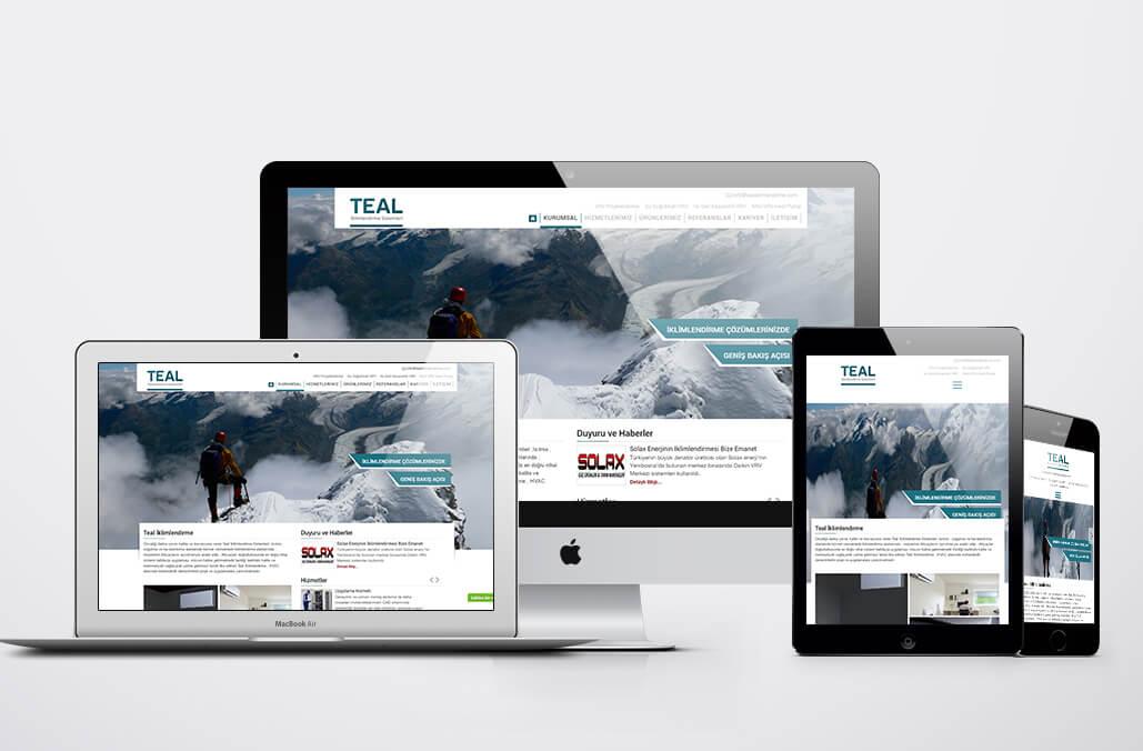 Teal İklimlendirme Web Tasarımı